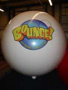 helium balloon with logo